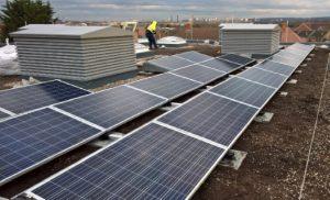 Carshalton Boys school solar panels from Powersun