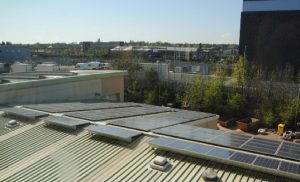 Warwickshire College with solar panels from Powersun